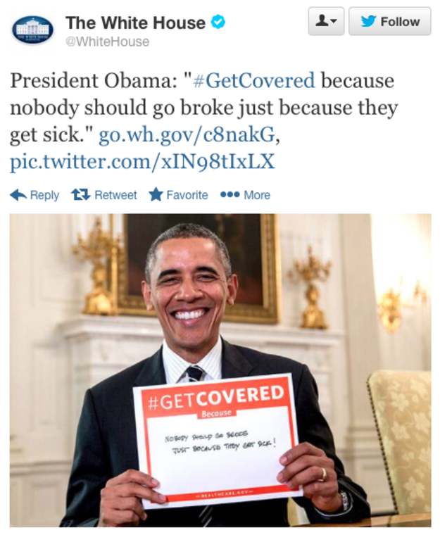 Obama promotes affordable care act through social media