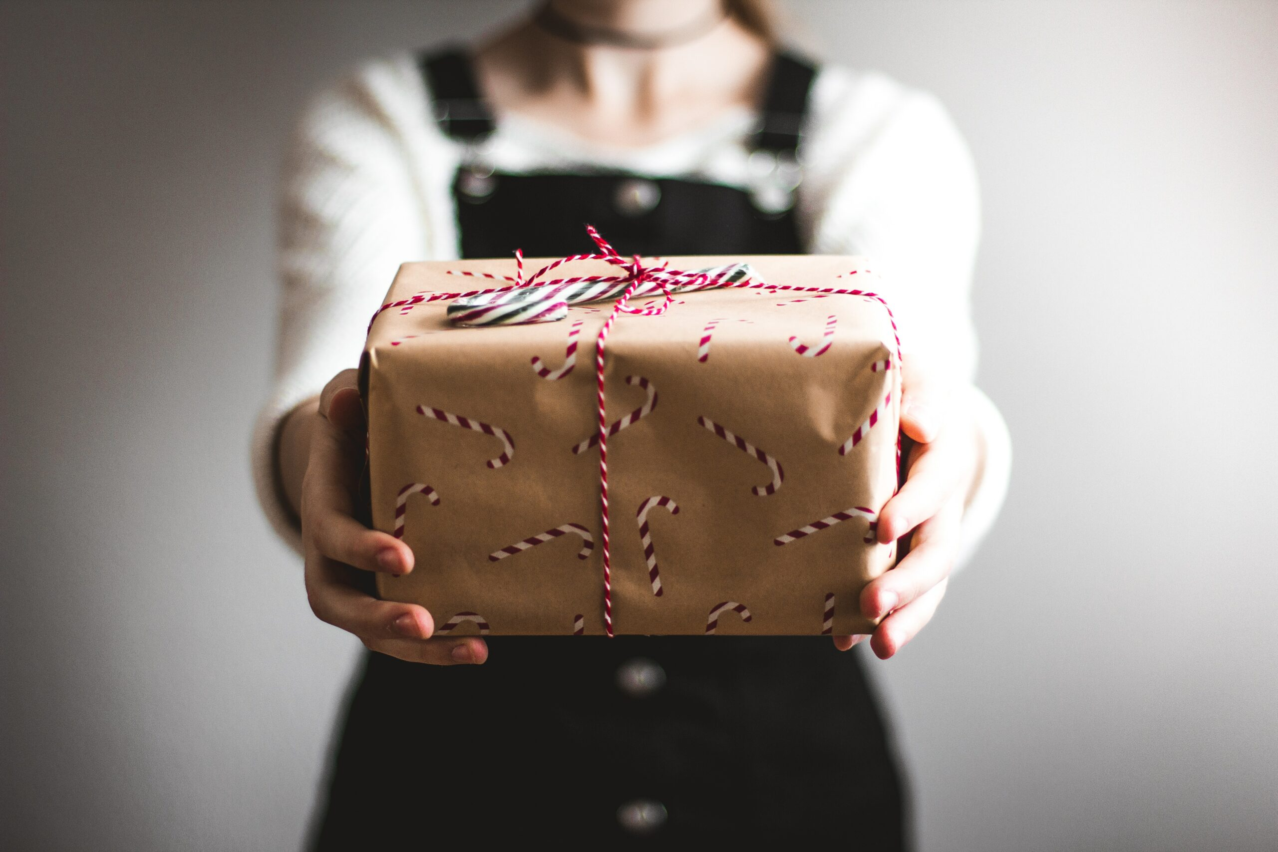 girl-holding-christmas-package