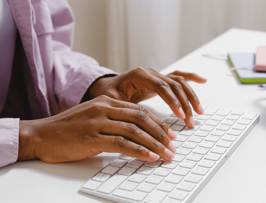 african-american-woman-typing